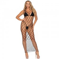 Striped acrylic leg warmers with skull zipper pull accent